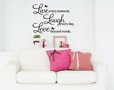 Live Laugh Love Vinyl Wall Sticker Wall Art Decal Kitchen Dining Room