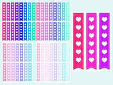 Heart Checklists, Planner & Calender Stickers, 2 Sheets, 64 Kiss Cut Stickers