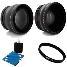 TelePhoto lens + Wide + UV Bundle For Panasonic HC-V710 HC-V720 HC-V730 HC-V750