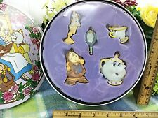 Disney Beauty and the Beast Set of ornament in tin