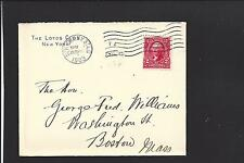 NEW YORK,NEW YORK COVER, 1903, STA. G., ADVT. THE LOTOS CLUB.#301.