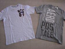 2Pc Aeropostale Graphic T-Shirt For Men Gray/WhiteSz XS - NWT $44