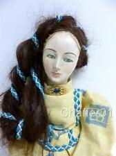 Antique Mid Victorian Papier Mâché Doll with Real Hair