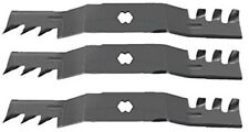 "Set of 3 Mulching Blades for 50"" Deck Cub Cadet 04053, Toro GT, MTD Lawn Mower +"