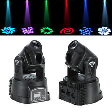 2x 15W Rot Grün blau DMX LED Moving Head Bühnenbeleuchtung Licht Stage DJ Disco
