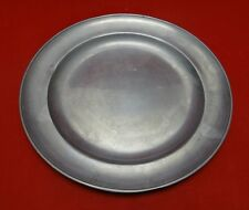 Pair of Antique Pewter Plates 12.5""