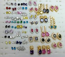 Wholesale Lot Of 20 Pairs Assorted Stud Earrings Brand New High Quality