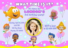 BUBBLE GUPPIES CUSTOM PRINTABLE BIRTHDAY PARTY INVITATION & FREE THANK U CARD