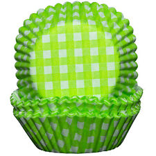Green and White Cupcake Cases x60 Baking Muffin