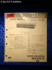 Sony Service Manual TA A200 Amplifier  (#0589)
