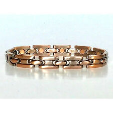 8 IN COPPER  MAGNETIC BRACELET NICE DESIGN WITH MAGNET IN EVERY LINK NEW 6442
