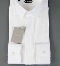 New $825 Tom Ford White Tuxedo Shirt Slim Fit Size 15.75 40 NWT