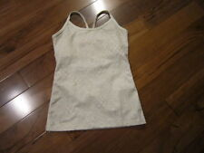 LULULEMON power y tank in POLAR CREAM AND DUNE floral print size 2 WITH CUPS