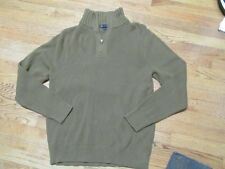 MENS J CREW 1/4 Zippered Mock Turtle Neck Sweater Top L Large EUC Holiday MINT