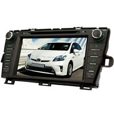 """UK 8"""" In-Dash Car Sat Nav GPS DVD Player Stereo RDS For Toyota Prius 2009-2013"""