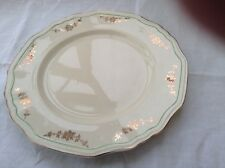 "Alfred Meakin post 1945 Scalloped Plate 10""gold swags Green ring off edge MEA278"