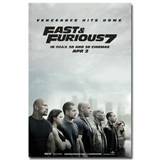 Fast and Furious 7 Movie Art Silk Wall Poster All Characters 24x36 inch