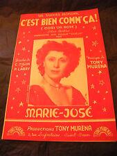 Partition C'est bien comm'ça! Marie José Tony Murena Music Sheet
