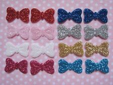"""160pcs Cute Sparkly Glitter Bow 3/4"""" Applique/doll/craft-8 Colors AB51"""