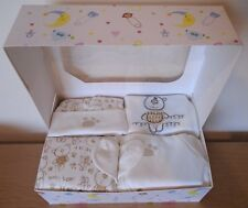 0-3m Neutral Baby Shower Gift Cream Outfit New Baby Gift Box Teddy Unisex