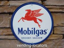 "Mobilgas Mobil Gas Oil Blue Red Pegasus Metal 12"" Sign Vintage Retro New Garage"
