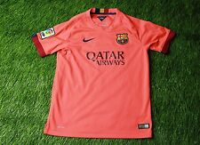 BARCELONA BARCA SPAIN 2014-2015 FOOTBALL SHIRT JERSEY AWAY NIKE ORIGINAL YOUNG L