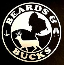 BEARDS AND BUCKS DECAL STICKER TURKEY FORD CHEVY DODGE VW JDM HONDA MAZDA TRUCK