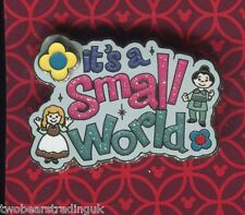 Disney Pin: WDW  'It's A Small World' - Logo Flower Spinner (New/Card)