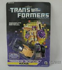 G1 Transformers - Decepticon Triggerbot Ruckus Complete On card PLEASE READ