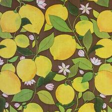 1960s 70s  LEMON SUNSHINE Mod ORIGINAL VINTAGE Wallpaper -  Fruit 1970s