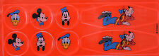 DISNEY 8 STICKER BIKE REFLECTOR PACK MICKEY MOUSE, DONALD DUCK & GOOFY LUMINOUS