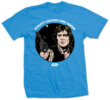 Star Wars Scruffy Nerf Herder Blu T-Shirt Unisex Taille / Size L ROCK OFF