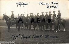 Group Royal Bucks Hussars RBH Churn Camp Berkshire 1915