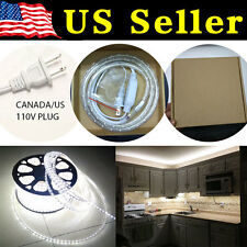 15 Feet Cool White 120V High Powe SMD3528 Flexible LED Strip Rope Cabinet Light