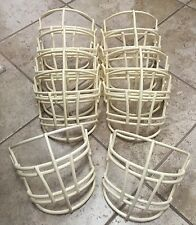 Lot Of 10 Riddell Football Facemask New!