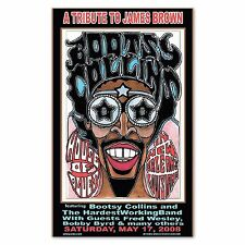 Bootsy Collins Poster- Tribute to James Brown Handbill 11x17 New