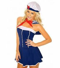 Sexy Sailor Girl Halloween Christmas Hen Party Outfit Ladies Fancy Dress Costume