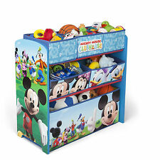 DELTA CHILDREN DISNEY MICKEY MOUSE WOODEN MULTI-BIN TOY ORGANISER BEDROOM TIDY