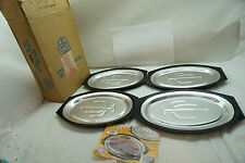 NORDIC WARE VINTAGE STEAK PLATES SERV-A-SIZZLE SET 4 UNUSED BOX HOT COLD CACTUS