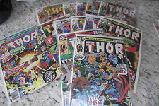 Thor 1978 Bronze Age Lot Run every issue from year, Christmas? Fn/VN lot LOOK!!