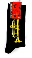 Trumpet Socks by Tie Studio - Music Themed Gifts - Trumpet Gift for Trumpeter
