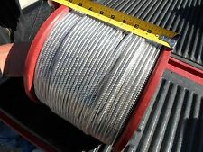 "1000' Roll 3/16"" ID Flexible Armored Cable 304 Stainless Steel Full Square Lock"