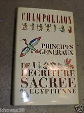 Champollion Principes généraux de l'écriture sacrée egyptienne Institut d'Orient