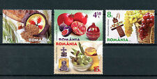 Romania 2016 MNH Live Healthy Bible Food Part 1 4v Set Fruits Stamps