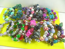 Wholesale bulk 12pcs Mix lot Colourful Shell Beads Bracelets Party Jewellery