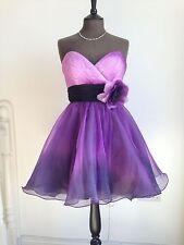 Mori Lee 9041 Lilac/Purple Ombre Short Strapless Party/Evening Dress UK 10
