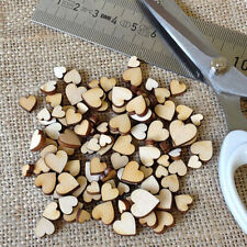 100pcs Rustic Wooden Love Heart Wedding Table Scatter Decoration Crafts DIY XGzp