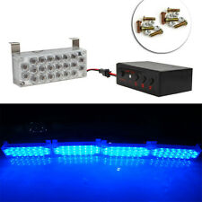1Set 4*22LED Flash Strobe Light Bar Blue Dash Police Emergency Warning Lamb 12V