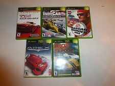 Lot of 6 XBOX Racing Games,Nascar Thunder,Indycar,Sega,Apex Driving Race Cars228