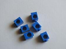 Lego 6 briques tech bleues 76055 4993 7667 5893 / 6 blue technic brick 1 x 1